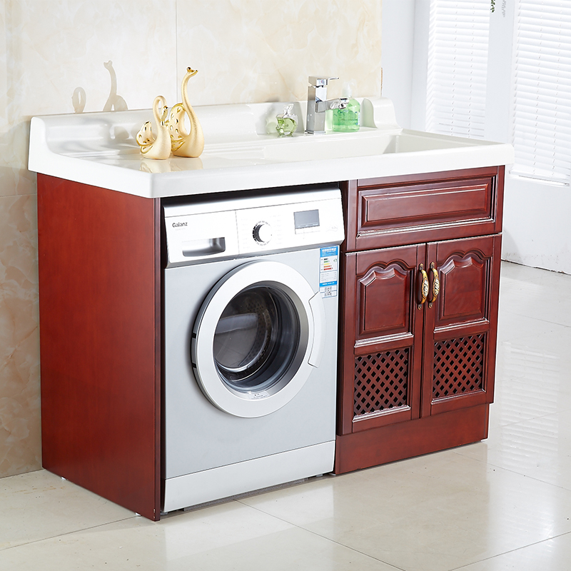 The united states oaken washing machine cabinet with washboard non euclidian standard custom factory direct quartz stone basin sink