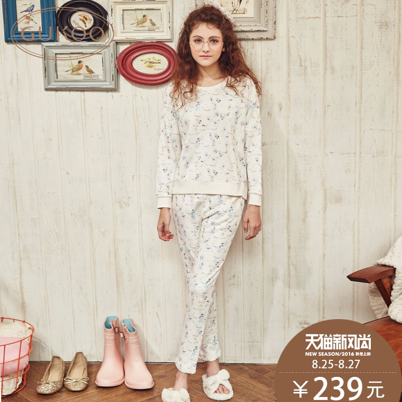 The20-30th days of spring women long sleeve cotton pajamas women tracksuit pyjamas set spring and autumn cotton pajamas female models sport