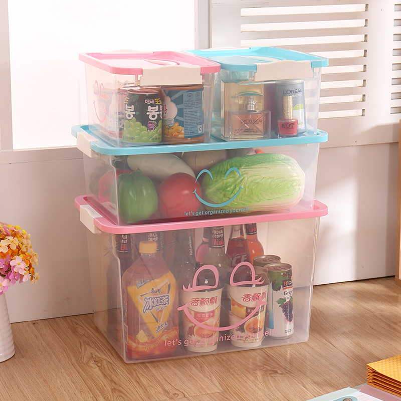 Get Quotations Thick Transpa Finishing Box Toy Storage Plastic With A Lid Large And Small Number