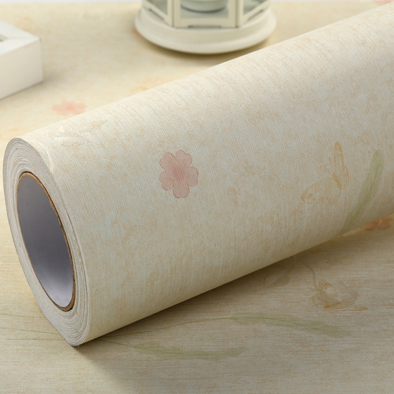 Thick waterproof pvc self adhesive wall stickers wallpaper adhesive wallpaper warm pastoral bedroom living room background stickers