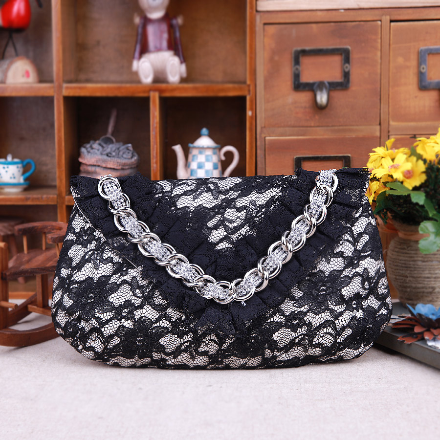 Thousand steps sand 2016 new female bag korean temperament lace retro bag clutch evening bag messenger bag single shoulder bag