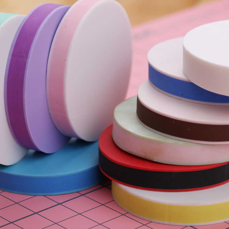 Thousands of color candy colored double sandwich rubber tiles rubber stamp diameter 5cm/novice diy supplies/10 color into