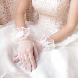 Thousands of colors bride b section tousha lace full finger gloves korean short white wedding dress accessories wedding gloves