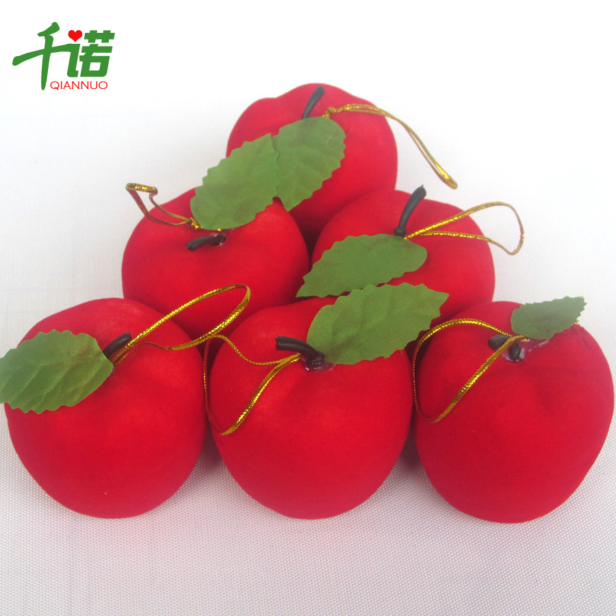 Thousands of connaught christmas christmas decorations christmas tree ornaments simulation small red apple apple apple 5cm foam