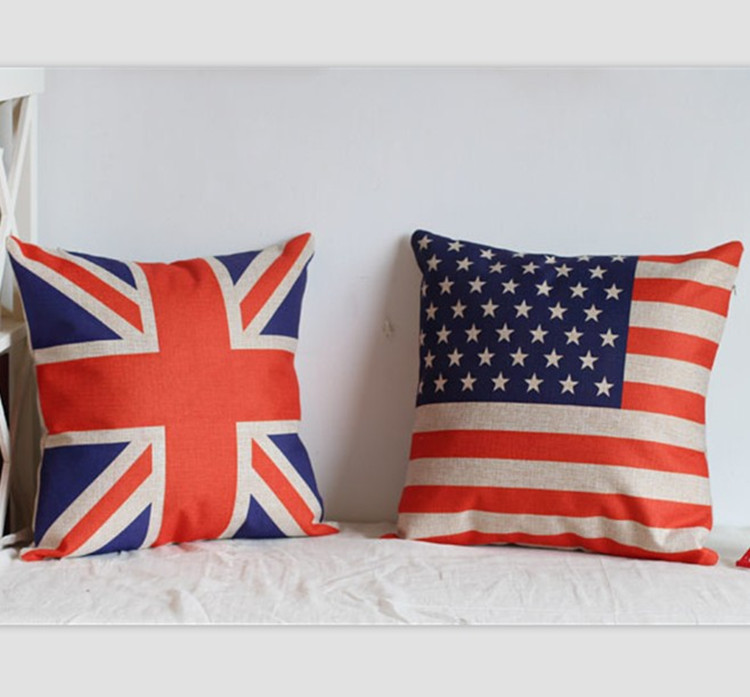 Thousands of united states nest home british american flag british european american cotton fabric pillow cushion sofa