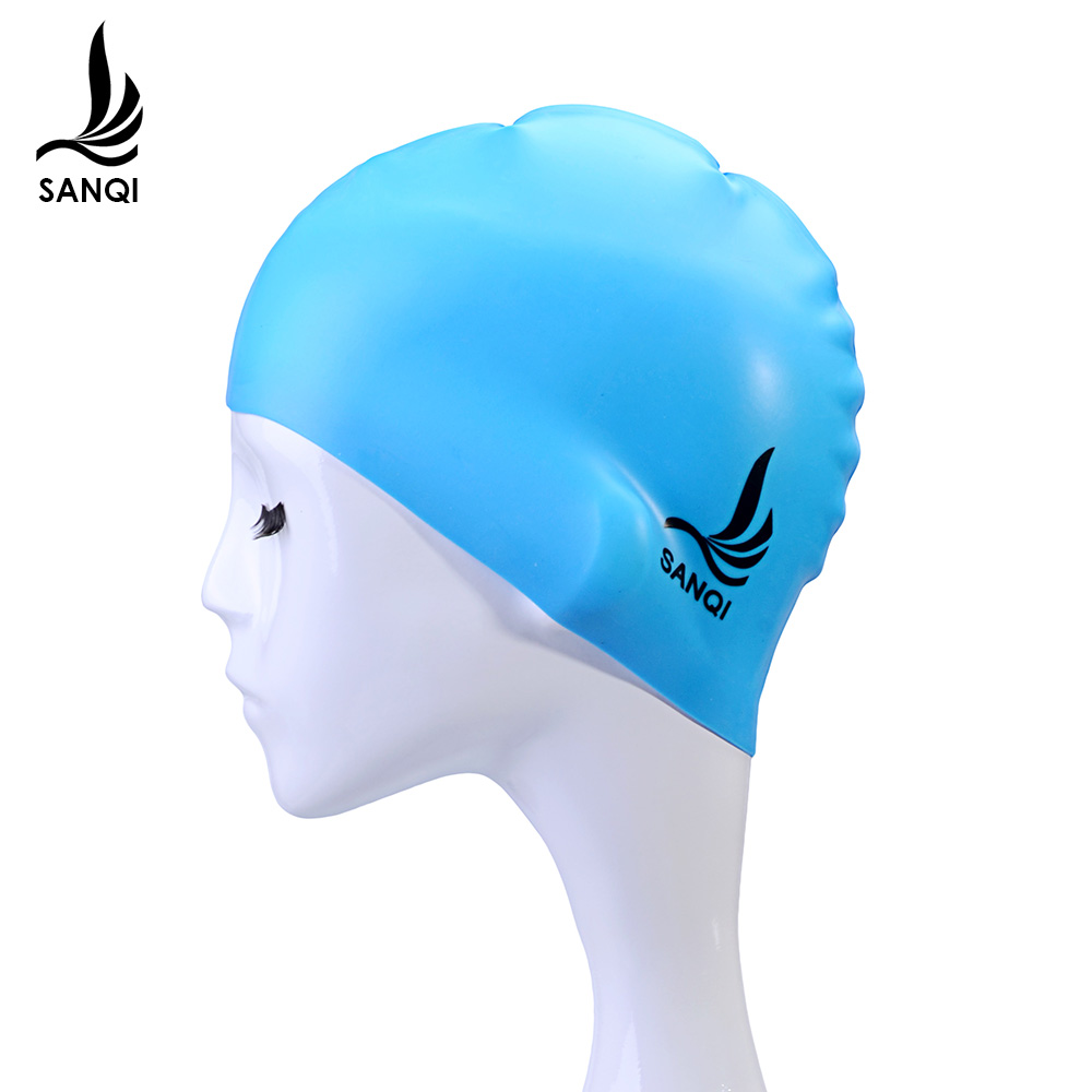 Three odd fashion waterproof silicone swimming cap swimming cap unisex hair waterproof ear genuine adult professional swimming equipment