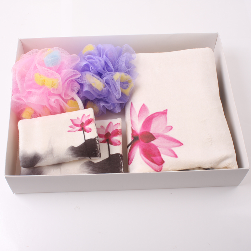 Three sets of gift boxes with soft absorbent than cotton towels bath towel superfine fiber mak towel towels towels gift