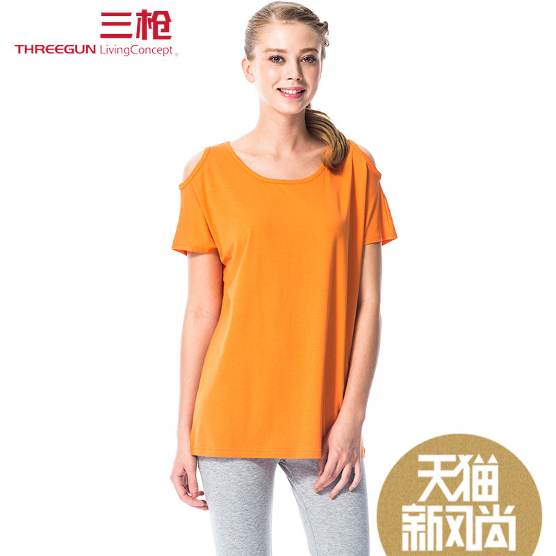 aff4492f01 Get Quotations · Three shots tracksuit 2016 new spring and summer viscose  round neck short sleeve cotton lycra pants