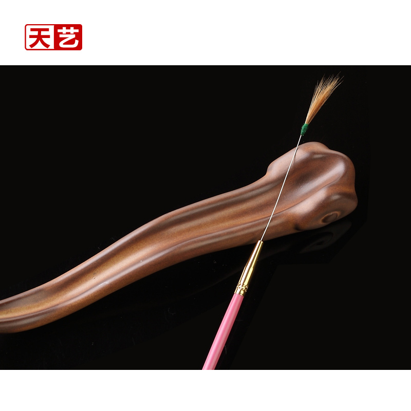 Tian yi brand rose red feather stick needles wooden handle/ear tool ershao/dig ear tools/single