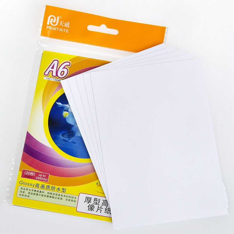 Tianwei a4 high light waterproof paper a6 photo paper glossy photo quality inkjet printer a4 paper a4 paper