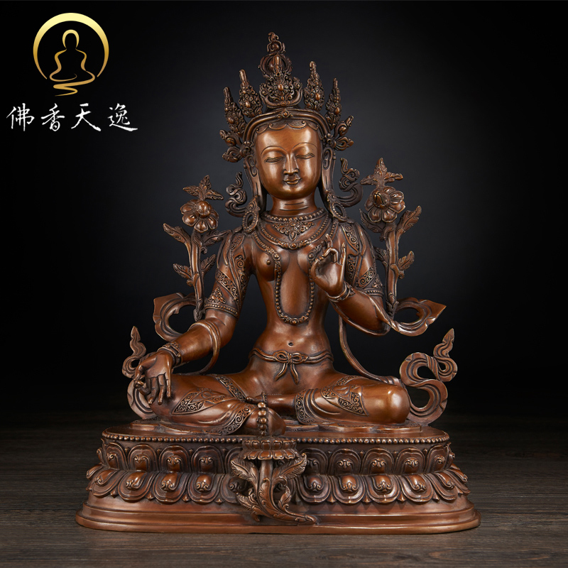 Tianyi copper green tara tibetan tantric buddhist statues buddhist goddess of mercy copper crossing mother buddha ornaments collection