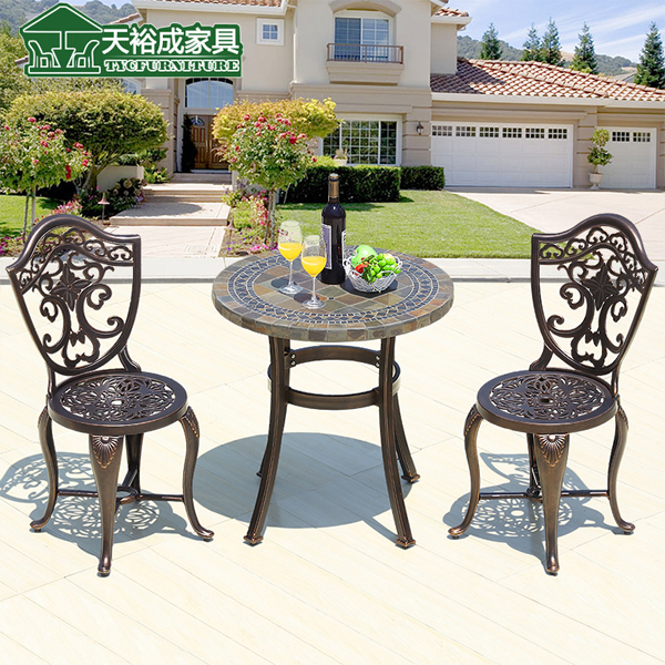 Tianyu into the balcony chairs leisure furniture outdoor furniture rattan chair three cast aluminum tables and chairs outdoor furniture wujiantao