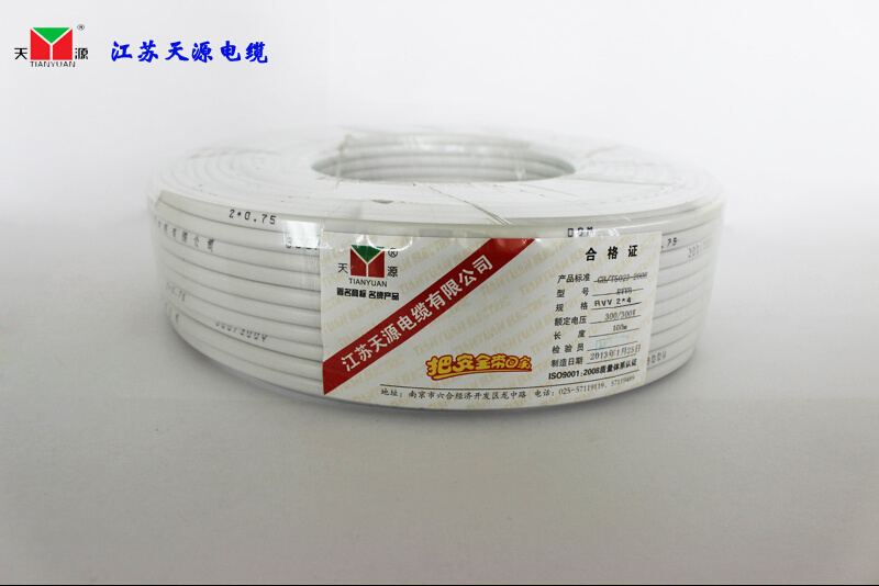 Tianyuan wire and cable rvv 2*2.5 two core 2.5 square sheathed cable rvv soft cable 100 m