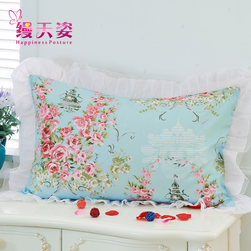 Tianzi unadorned korean cotton lace cotton pillowcases pillowcase single pillowcase 48 one pair of two loaded 74 shipping