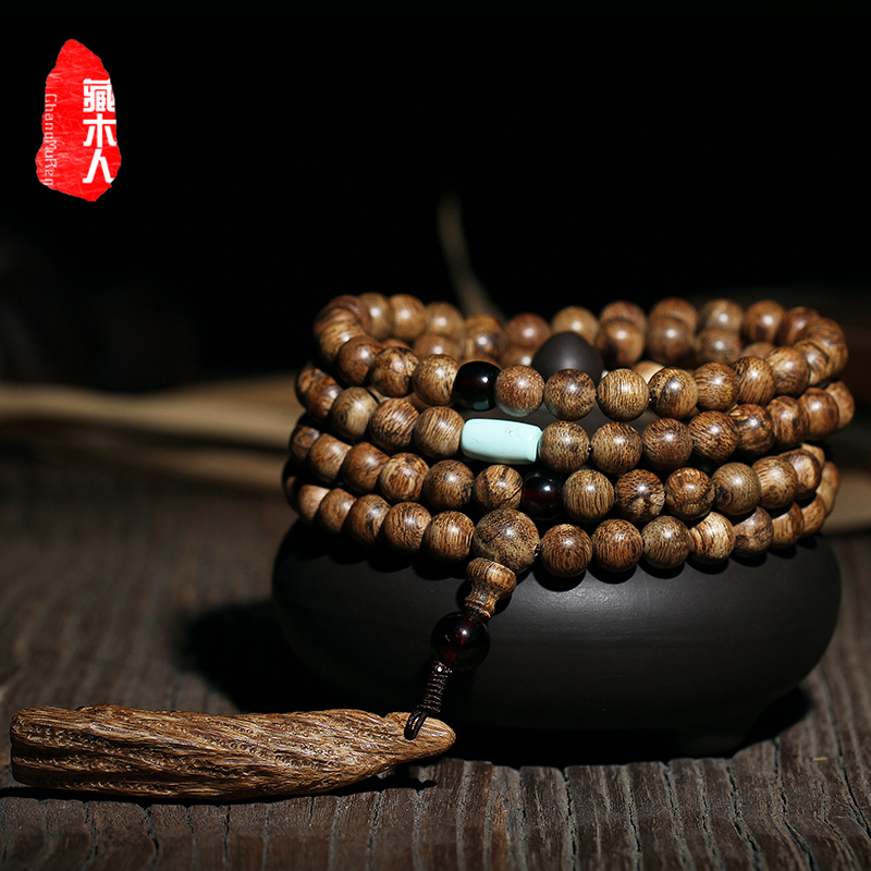 Tibetan wooden nine minutes submerged natural horse mud floods incense bracelets 8mm prayer beads bracelet male and female models 108é¢ Solitary