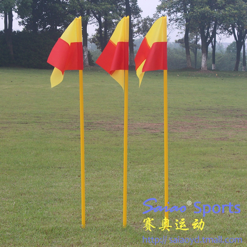 Tie with type soccer corner flag flag flag pole flag pole obstacle training obstacle warning lever markers
