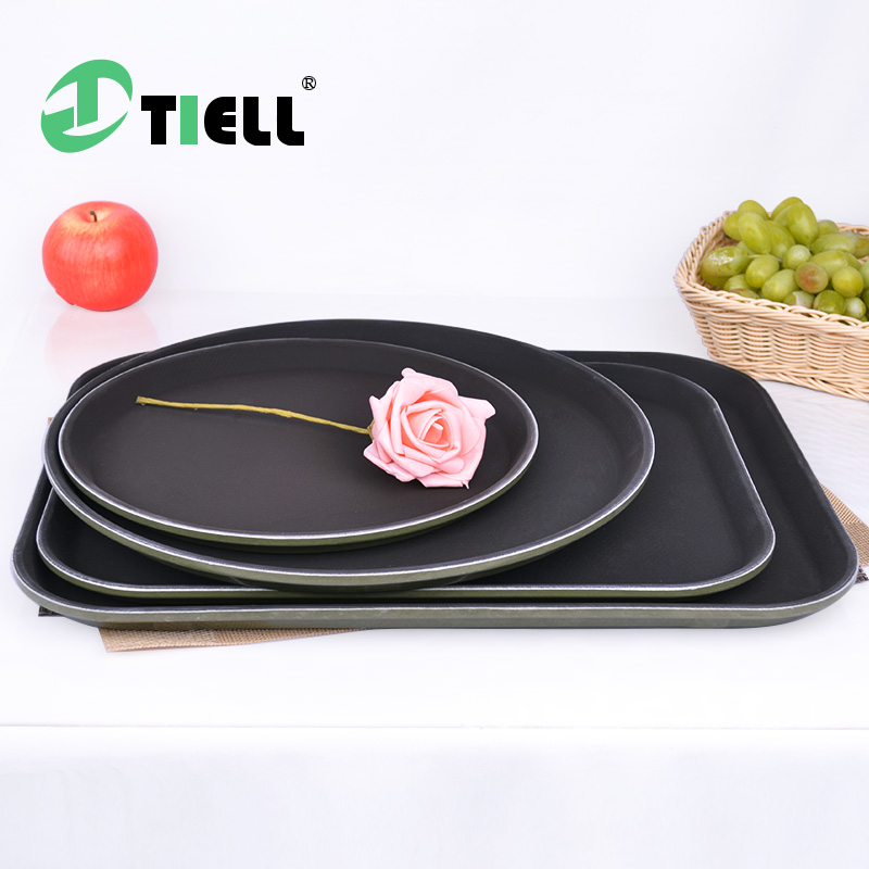 Tiell slip tray round tea tea tray rectangular tray continental hotel supplies kitchen room tempered glass tray