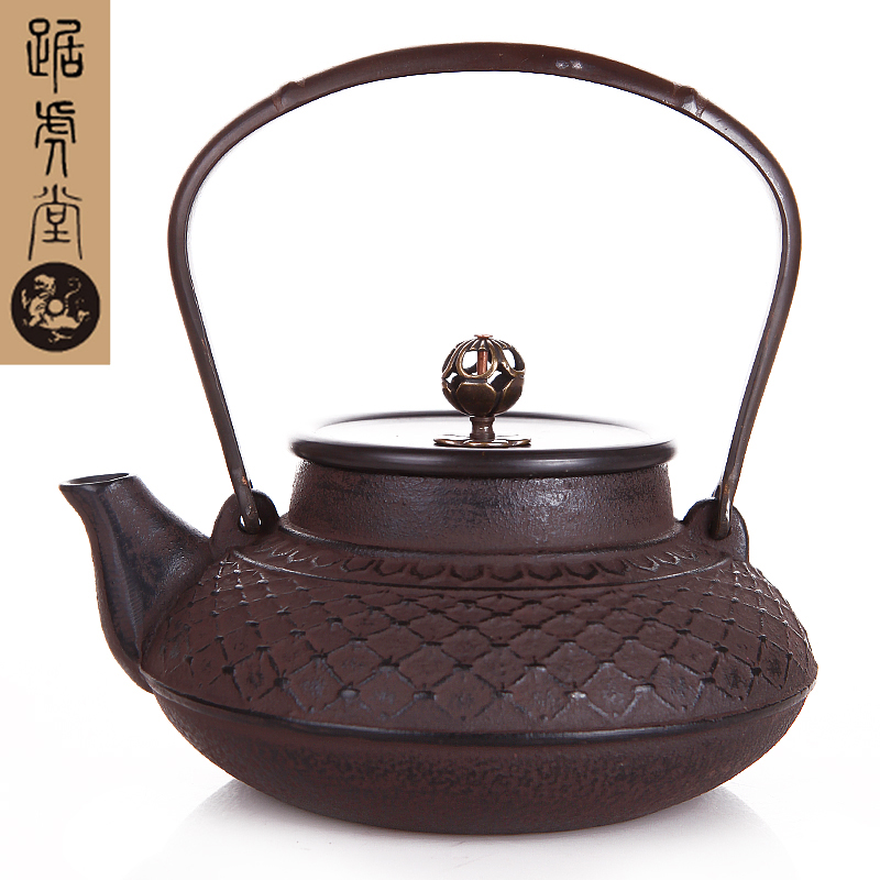Tiger hall squat black bamboo zen oxidization health old iron kettle southern iron pot uncoated cast iron pot teapot boiling kettle