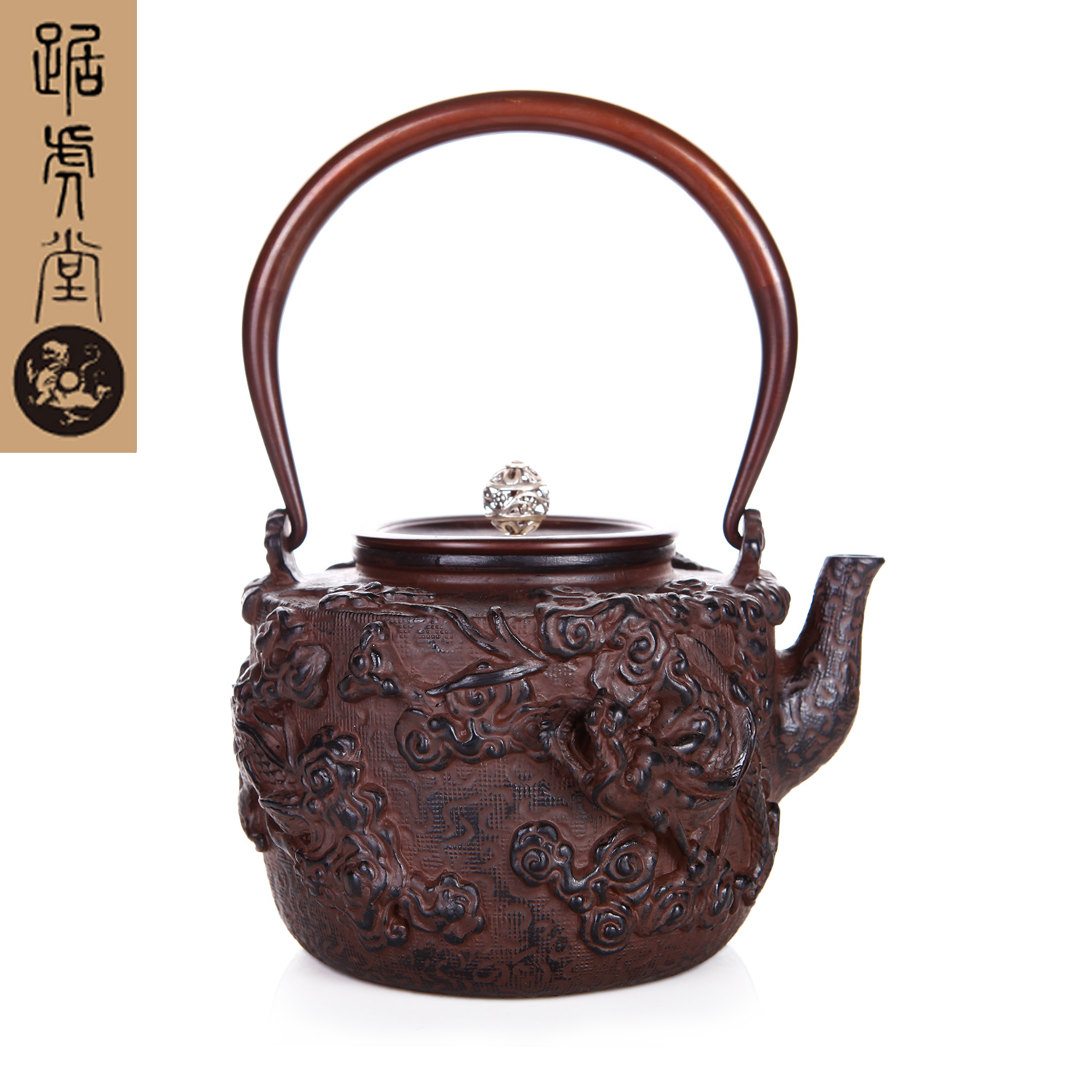 Tiger hall squat yunlong sailing craft health iron kettle southern japan iron teapot uncoated cast iron pot free shipping