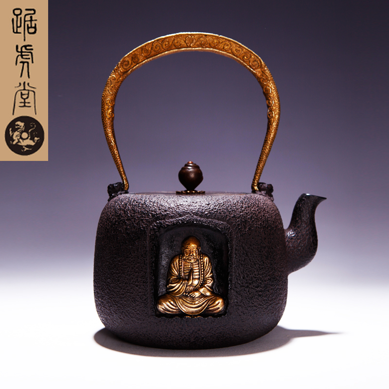 Tiger hall squat zen buddhism gilt oxidization intine southern old iron pot iron pot uncoated cast iron pot cast iron pot