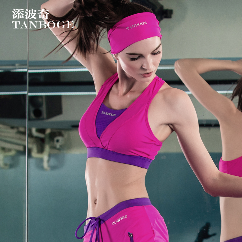 da24b8e289 Get Quotations · Tim porch spring and summer yoga clothes tops gym  shockproof sports bra female tight jogging vest
