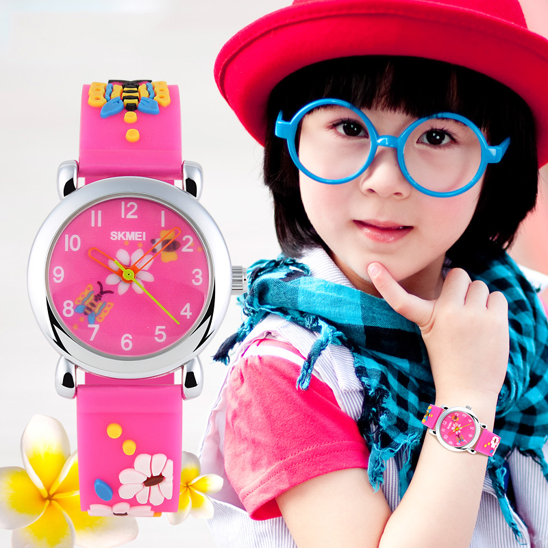 Time us waterproof cartoon cute girls children little girl students quartz watch jelly watches fashion personality male
