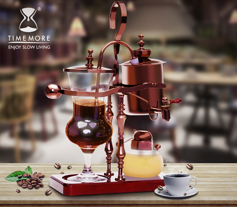 Timemore thermostat royal belgian coffee pot coffee pot household siphon coffee machine can be customized engraving