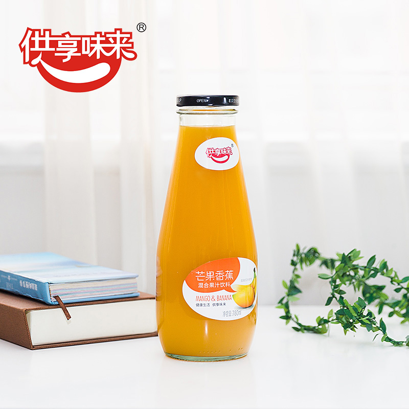 To enjoy the taste for banana mango juice mixed drink mango juice beverage concentrated puree juice 780 ml