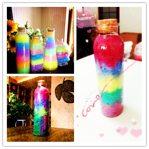 To send his girlfriend diy star ocean baby bottle bottle rainbow nebula bottle bottle bottle wishing bottle birthday tanabata valentine's day gift