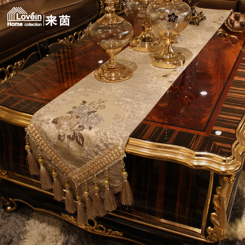 To yin stylish modern european luxury three-dimensional embroidery lace tablecloth table runner placemats upholstery fabric home