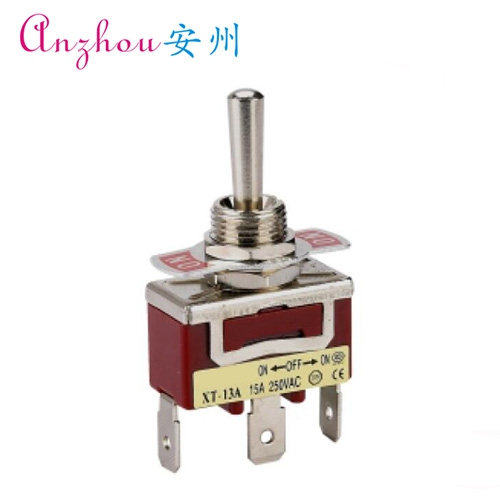 Toggle switch unipolar XT-13AF bidirectional automatic reset type 3 feet 3 files toggle switch toggle switch