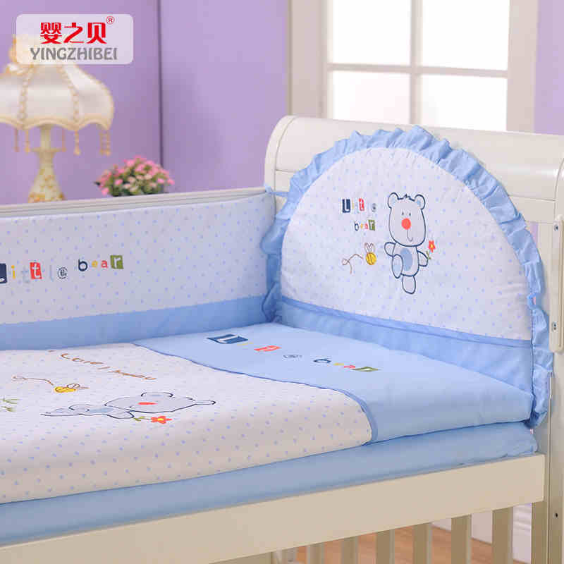 Tony infant's crib crib bedding package around the baby crib bed around 11 sets of baby bedding can be folded wash