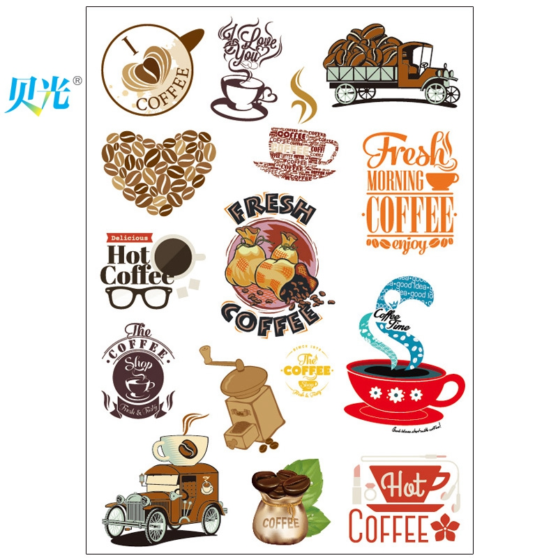 Tony light 141 coffee tide brand stickers suitcase stickers personalized stickers laptop stickers fridge stickers waterproof wall stickers