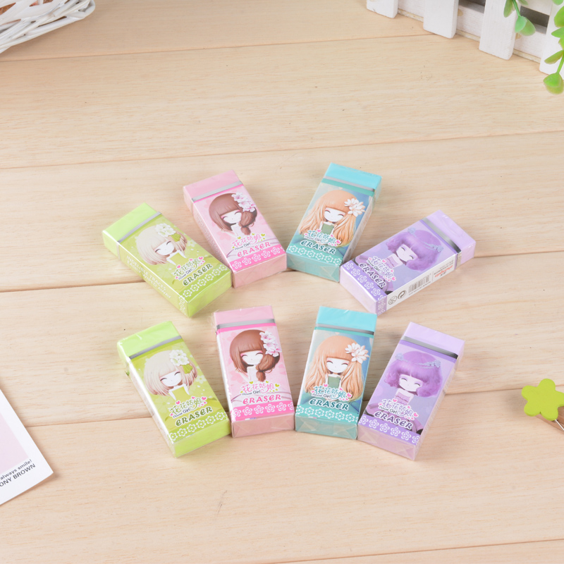 Too adorable rabbit korean large piece of fashion cute flower girl students learn repair personality is eraser