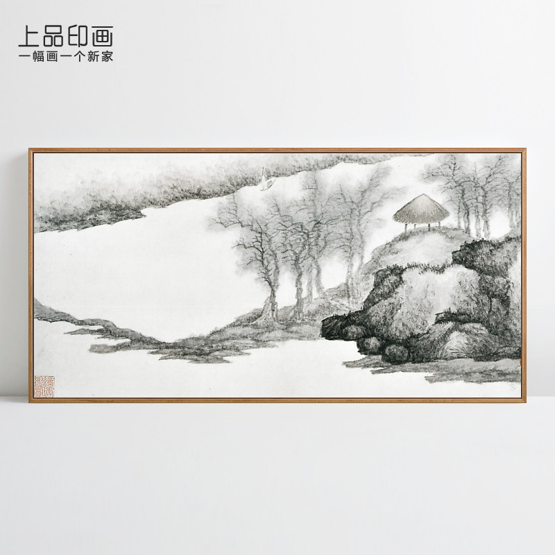 Top grade indian painting gongxian landscape volume original new chinese modern decorative painting framed painting the living room landscape