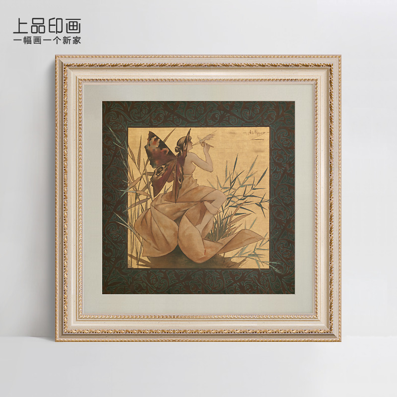Top grade indian painting reed leaves original american country hotel landscape of modern decorative painting framed painting the bedroom elegant