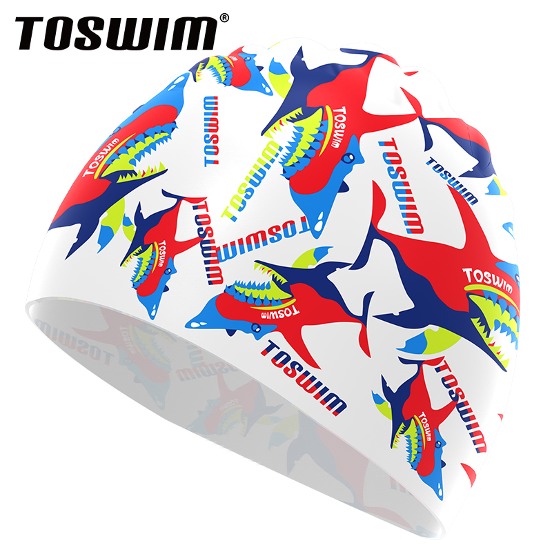 Toswim billiton wins swimming cap female hair waterproof swimming cap swimming cap male korean fashion personality comfortable swimming cap swimming cap paternity