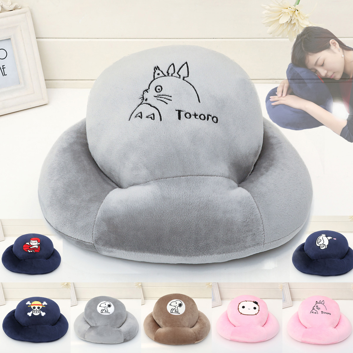 Totoro cartoon super soft pillow pillow nap pillow u students sleep pillow pillow papa office lunch artifact