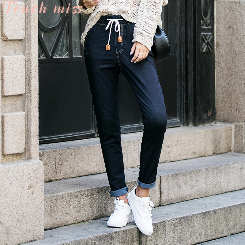 Touch ms. miss 2016 new fall wild solid color jeans pencil pants fashion was thin female dress
