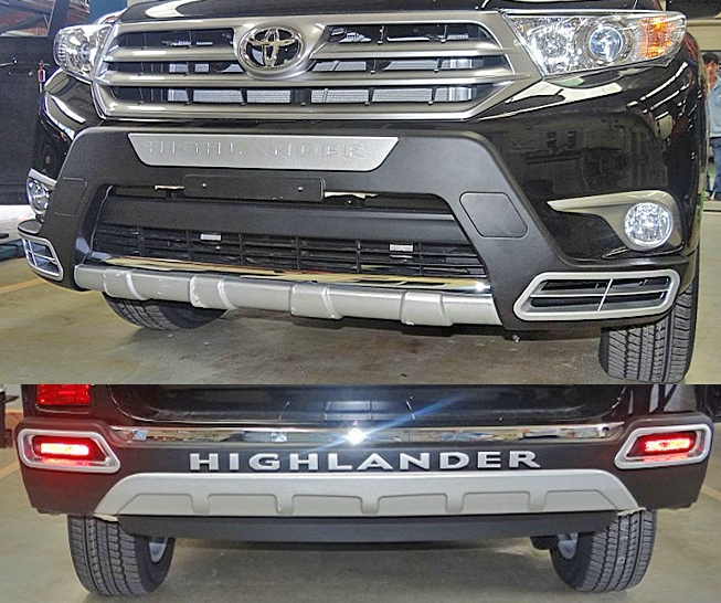 Toyota highlander 12-14-year-old special front and rear bumpers front and rear bumper front bumper + rear bumper protection bars