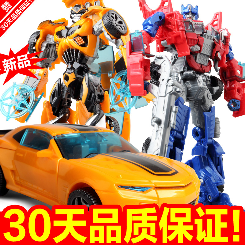 Transforming toys diamond 4 bumblebee transform robot model car manually deformed children's toys genuine