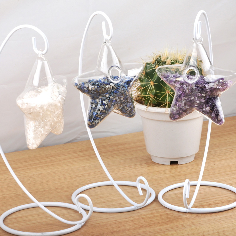 Transparent fashion creative glass ball ornaments star heart ornaments home office decorations gifts