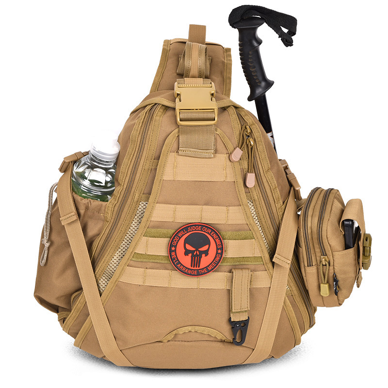Travel shoulder bag mountaineering outdoor camouflage tactical backpack small chest pack chest casual shoulder bag messenger bag sports bag