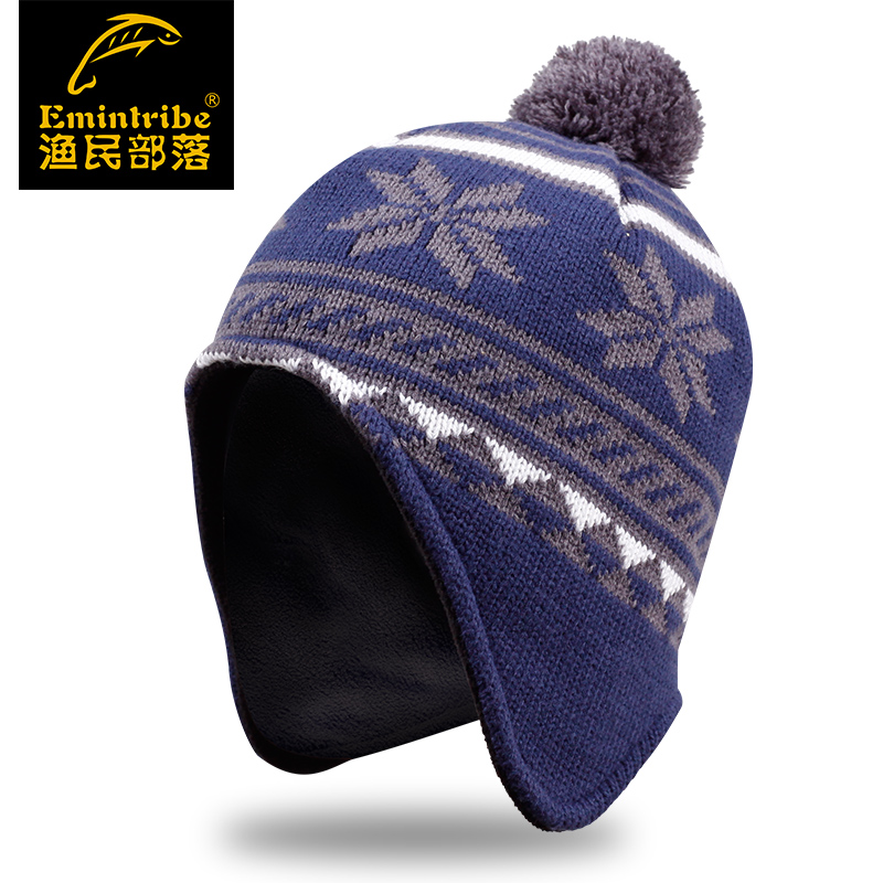 Tribal fisherman outdoor fleece hat knitted hat male and female models leisure hat fashion cap hedging