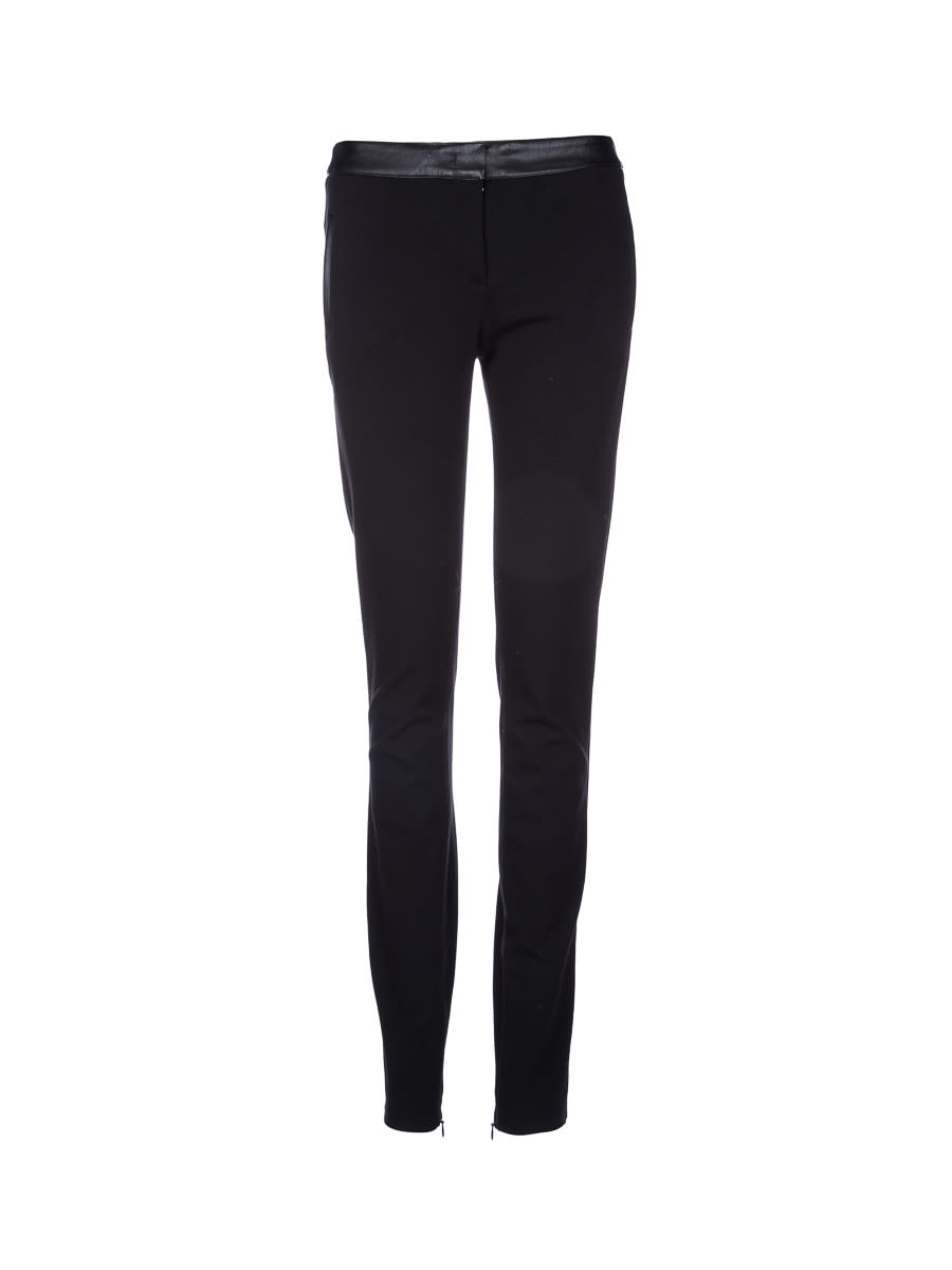 Tru trussardi black stitching design tight trousers
