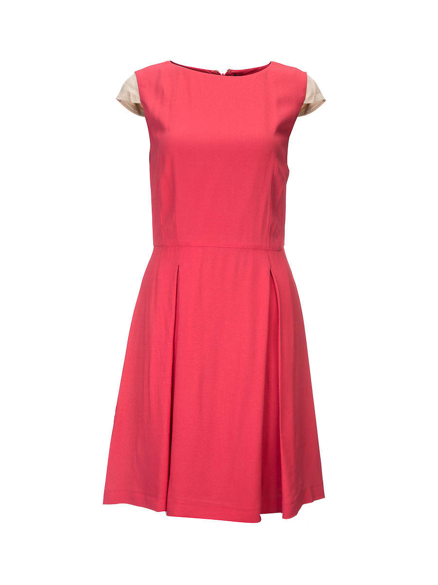 Tru trussardi pieces of red stitching dresses
