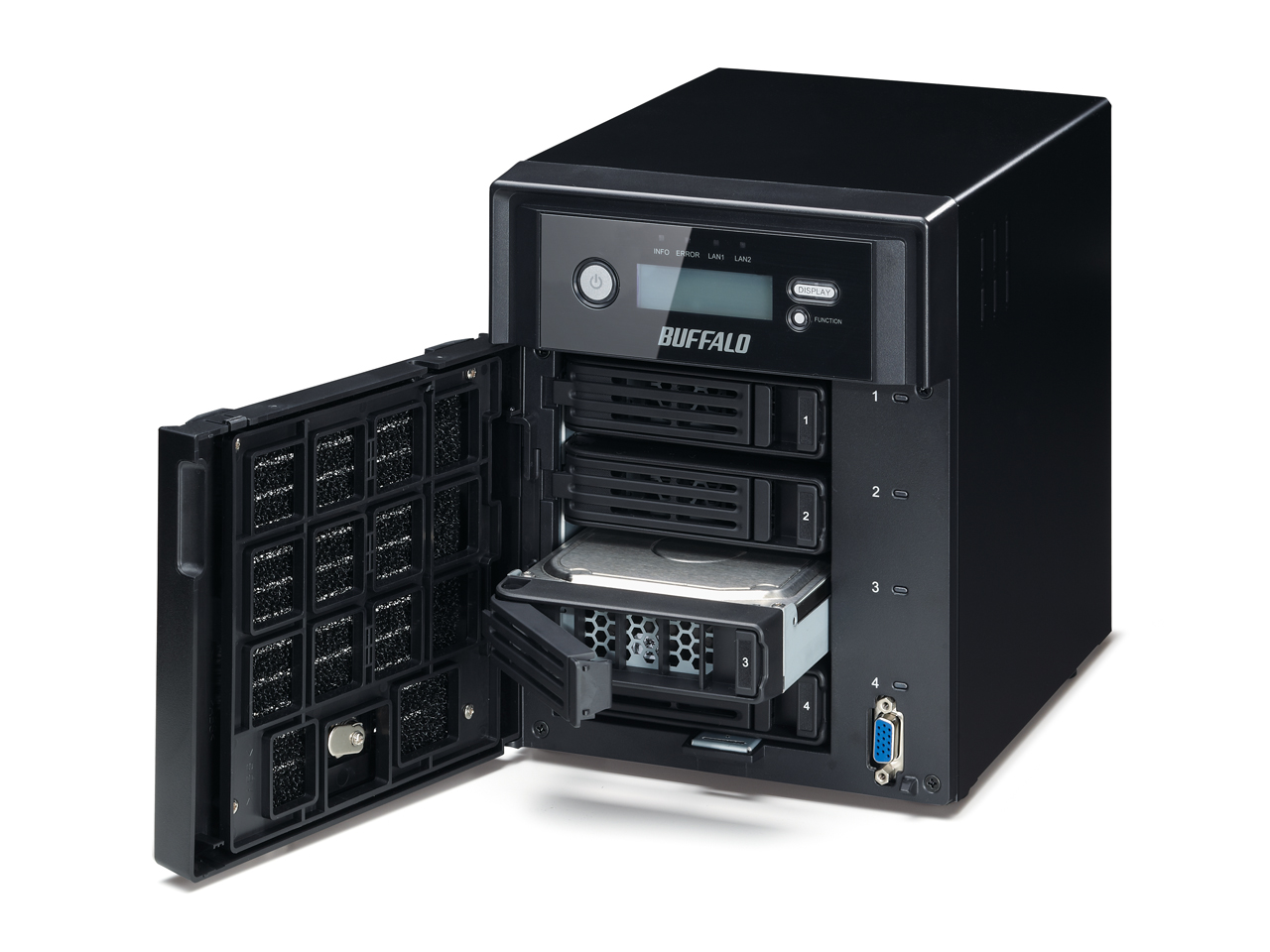 TS5400D without built-in hard disk 4 buffalo nas network storage server