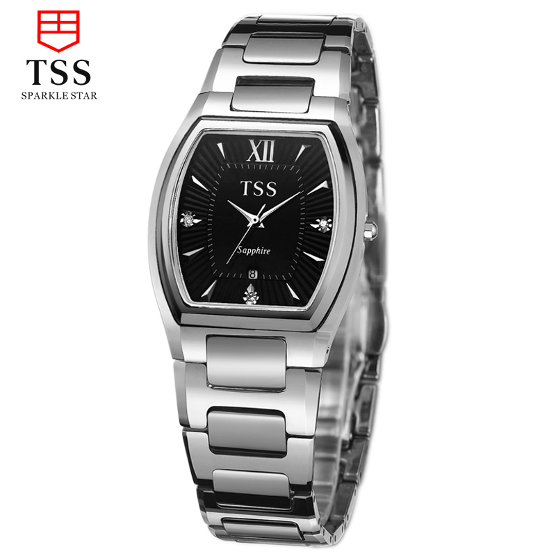 Tss days thinking ultrathin watches square tungsten steel quartz watch casual men's watch men watches simple fashion trend
