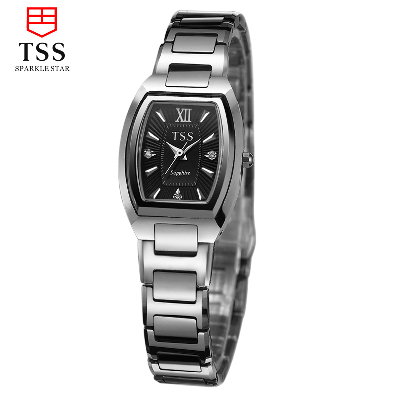 Tss days thinking watches miss han ban stone diamond thin british fashion female form tungsten steel waterproof watch lovers watch