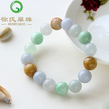 Tsui tsui edge natural burma jade jewelry emerald myanmar a cargo of natural emerald three color jade bracelet bracelets